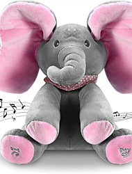 cheap -Plush Toy Sleeping Pillow Stuffed Animal Plush Toy Elephant Pillow Singing Walking Talking LED Light Music & Light Repeats What You Say Plush Imaginative Play, Stocking, Great Birthday Gifts Party