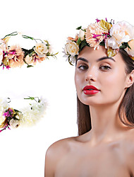 cheap -Bride Wedding Photography Headdress Simulation Flower Wreath Christmas Day Adult Hair Accessories Accessories