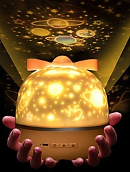cheap -Baby & Kids' Night Lights Music Moon Star Starry Night Light LED Lighting Light Up Toy Constellation Lamp Star Projector Glow 1W USB Kid's Adults for Birthday Gifts and Party Favors  1 pcs