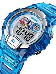 cheap -multifunction sports watch led digital kids wrist watches transparent blue
