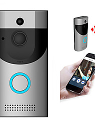 cheap -Wireless Doorbell WiFi Video Smart Talk Door Ring Security HD Camera Bell With dingdong / 32GB memory card / 2Chargeable battery