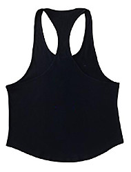cheap -bodybuilding tank tops for men 100% cotton racerback and beveled hem color red size m