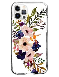 cheap -Flower / Floral Phone Case For Apple iPhone 13 12 Pro Max 11 X XR XS Max iphone 7/8 iphone 7Plus / 8Plus Unique Design Protective Case Pattern Back Cover TPU