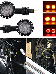 cheap -OTOLAMPARA High Quality DC 12V Motorcycle LED Turn Signals Brake Lights Indicator 20W Stop Light For Harley Chopper Motorcycle Black 2pcs