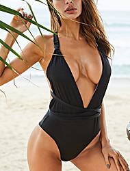 cheap -Women's One Piece Swimsuit Criss Cross Black Swimwear Bathing Suits