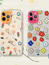 cheap -Flower Patterned Phone Case For Apple iPhone 12 11 SE2020 Shockproof Protective Case TPU Cover for iPhone 12 Pro Max XR XS Max iPhone 8 7