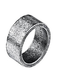 cheap -Men's and Women's Stainless Steel Minimalist Matching Ring Wedding Band 10mm Silver