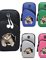 cheap -Unisex Bags Oxford Cloth Fanny Pack Mobile Phone Bag Messenger Bag Zipper 3D Daily Outdoor 2021 Canvas Bag Bum Bag Black Blue Blushing Pink Green