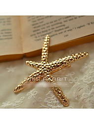 cheap -european and american foreign trade jewelry high-end custom retro gold starfish hairpin spring clip hair accessories cf122