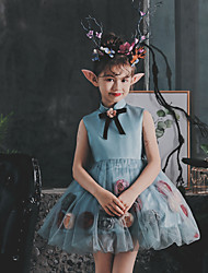 cheap -Princess / Ball Gown Short / Mini Wedding / Birthday Flower Girl Dresses - Tulle Sleeveless High Neck with Pick Up Skirt / Bow(s) / Appliques