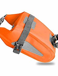 cheap -seat bag waterproof, bike saddle bag, bicycle accessories bag mountain bike seat post bag with reflective stripes, cycling bag for road and other bikes,orange