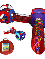 cheap -4pcs Pop Up Children Play Tent w/ 2 Crawl Tunnel & 2 Tents - Kids Tents for Boys, Girls, Babies & Toddlers for Indoor & Outdoor - Large Children Playhouse Ball Pit w/ Storage Case