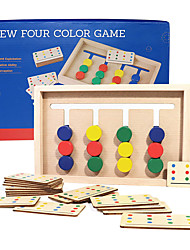 cheap -Preschool Learning Toys Montessori Education Color Sorting ToysWooden Sliding PuzzleSlide Matching Brain Teasers Logic GameGift for Kids Child Boys Girls Age 3 4 5 6 7 Years Family Game