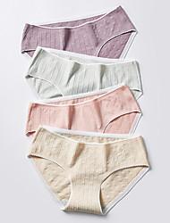 cheap -Women's 1 Piece Basic Brief - Normal Low Waist Yellow Blushing Pink Khaki M L XL