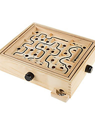 cheap -Wooden Maze Game with Two Steel Marbles Puzzle Game for Adults Boys and Girls by Hey! Play!