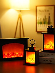 cheap -Flame Effect Light Home Vintage Decoration Halloween Christmas Gifts New Year Decoration LED Light Flame Lamps Fireplace Lantern