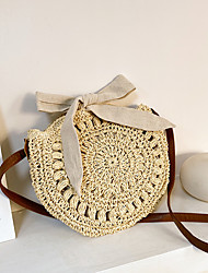 cheap -Women's Bags Crossbody Bag Straw Bag Holiday Beach 2021 MessengerBag Khaki