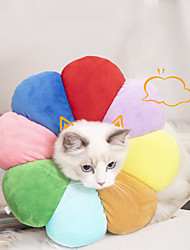 cheap -Dog Cat Pet Cone Pet Recovery Collar Elizabeth circle Adjustable Stress Relieving Safety Anti-Bite Lick Wound Healing After Surgery Protective Outdoor Walking Flower Sunflower Cotton Small Dog