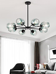 cheap -6-Light 8-Light 75-90-120 cm Sputnik Design Globe Design Chandelier Aluminum Glass Artistic Style Globe Geometrical Electroplated LED Nordic Style 110-120V 220-240V