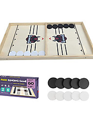 cheap -Fast Sling Puck Game Paced, Table Desktop Battle,Winner Board Chess Games Toys for Adults Kids Foosball Slingshot Game Board Table Game (21.5in×11.4in)