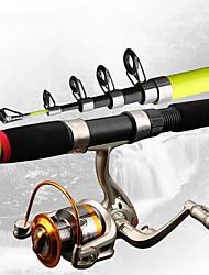 cheap -Fishing Rod and Reel Combo Telescopic Rod 180/210/240/270/300/360 cm Portable Lightweight Sea Fishing