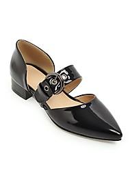 cheap -Women's Heels Chunky Heel Pointed Toe PU Synthetics White Black Green