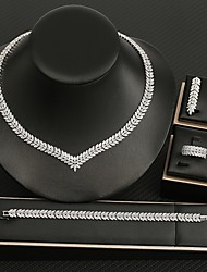 cheap -Women's Cubic Zirconia Bridal Jewelry Sets Earrings Jewelry White For Wedding Party Evening 1 set