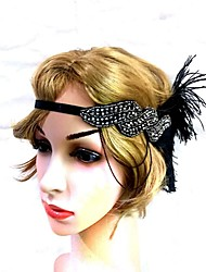 cheap -Sparkle & Shine Vintage Inspired Feathers Fascinators with Feather / Acrylic Diamond 1 PC Special Occasion / Party / Evening Headpiece