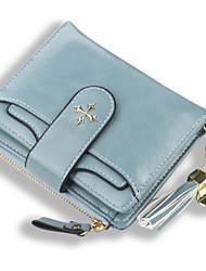 cheap -Women's Bags PU Leather Clutch 2 Pieces Purse Set Zipper Solid Color Holiday Date Light Blue Dark Red Dark Pink khaki