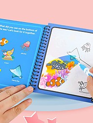 cheap -4pcs Magic Water Drawing Book Coloring Book Magic Pen Painting Drawing Board for Kids Toys Birthday Gift Repeated Resuable Graffiti