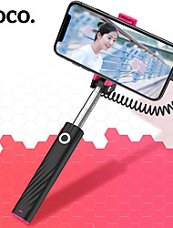cheap -Hoco Wired Selfie Stick Extendable Max Length 64cm For iPhone 12 Samsung S21 A12  Universal Android / iOS