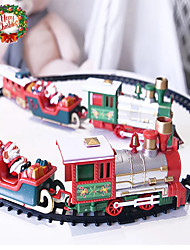 cheap -Christmas Electric Rail Car Train with Lights and Sounds Set for Children Railway Racing Road Transportation Building Toys