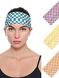cheap -3 pcs Amazon Fashion New Checked Elastic Broadband Headband Ladies Washing Face Sports Plaid Printed Headband