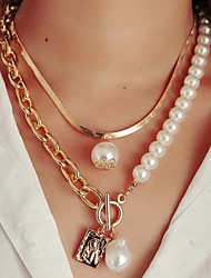 cheap -Women's Necklace Classic Love Simple Fashion Alloy 45 cm Necklace Jewelry 1pc For Wedding Festival