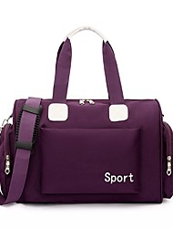 cheap -Women's Large Capacity Waterproof Oxford Cloth Travel Bag Zipper Solid Color Letter Daily Outdoor Purple Navy Blue Pink Black