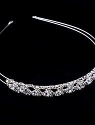cheap -Wedding Bridal Alloy Headbands / Headdress / Headpiece with Sparkling Glitter / Metal / Crystals / Rhinestones 1 Piece Wedding / Party / Evening Headpiece