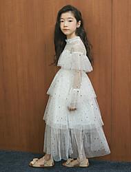 cheap -2020 spring and summer new girls star net yarn girls dress ins big children princess dress one drop
