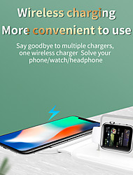 cheap -2-in-1 15W Wireless Mag-Safe Charger for iPhone 12 Series Fast Charging Charger for Watch 6 5 4 Air Pods Samsung iPhone 12 11 Xiaomi Huawei Smart 180° Folding Portable Wireless Charger