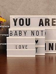 cheap -LED Combination Light Box Night Table Desk Lamp DC 5V DIY Letters Symbol Cards Decor USB or Battery Powered Message Board