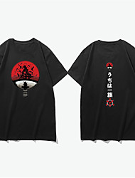 cheap -Inspired by Naruto Uzumaki Naruto Cosplay Costume T-shirt Polyester / Cotton Blend Graphic Prints Printing Harajuku Graphic T-shirt For Women's / Men's