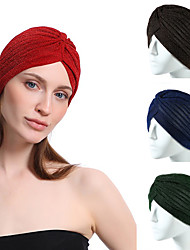 cheap -3 pcs New Style Ladies Crumpled Bright Silk Polyester SportsAnd Leisure Indian Hat Baotou Cap Turban Headwear