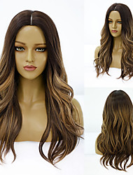 cheap -Synthetic Wig Deep Wave Middle Part Wig Medium Length A15 A16 A17 A18 A10 Synthetic Hair Women's Cosplay Party Fashion Black Brown