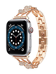 cheap -Watch Band for Apple Watch Series 6 / SE / 5/4 / 3/2/1 44mm 40mm  42mm 38mm Apple Business Band Stainless Steel Wrist Strap