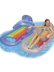 cheap -Inflatable Pool Float Lounge Raft with Headrest PVC / Vinyl Water fun Party Favor Summer Beach Swimming 2 pcs Boys and Girls Kid's Adults'