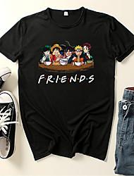 cheap -Inspired by Naruto Midoriya Izuku Cosplay Costume T-shirt Microfiber Graphic Prints Printing T-shirt For Men's / Women's