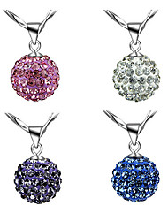"cheap -crystals from swarovski disco ball white set pendant necklace 18"" hook earrings 18 ct white gold plated for women"