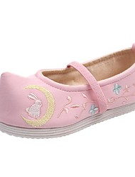 cheap -Girls' Flats Espadrilles Cotton Little Kids(4-7ys) Big Kids(7years +) Daily Walking Shoes White Pink Fall Spring