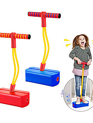 cheap -2 Pack Foam Pogo Stick Bungee Jumper for Kids Outdoor Toys, Foam Bouncing Toy for Kids Age 3 and up, Squeaky Sounds Pogo Sticks Supports up to 250lbs (Blue&Red)