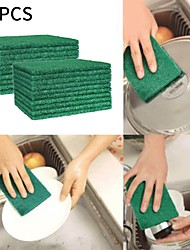 cheap -20PCS Cleaning Cloth Scouring Pads Emery Scouring Pad Dish Scrubber Household Scrub Pads for Stove Top Cleaner and Kitchen Scrubbers