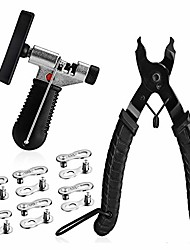 cheap -a akraf bicycle chain repair tool kit with bike link plier, chain breaker splitter tool, 6 pairs bicycle missing links, bicycle mechanic tool kit with chain master link remover and connector